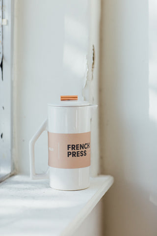 Gloss Cream Ceramic French Press