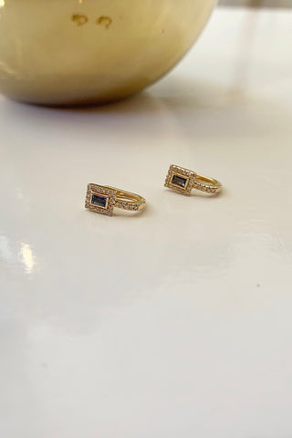 Spark Gold Diamond Earrings