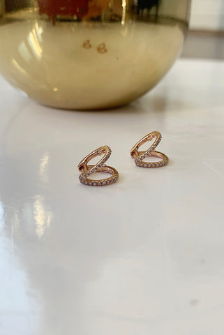 Tinge Rose Gold Diamond Earrings