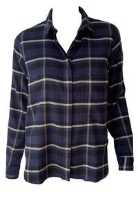 Hailey Plaid Button Down Top - Augusta Twenty