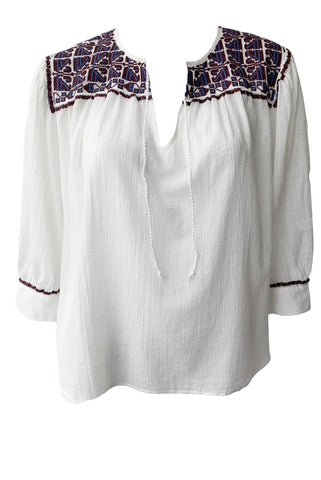 Teri Embroidered Top