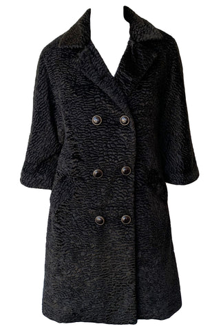 Faux Persian Lamb Coat