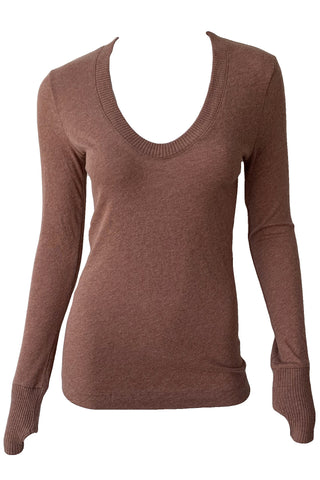 Cashmere Easy Cuffed U Sweater - Augusta Twenty