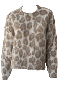 Cheetah Crew Neck Sweater