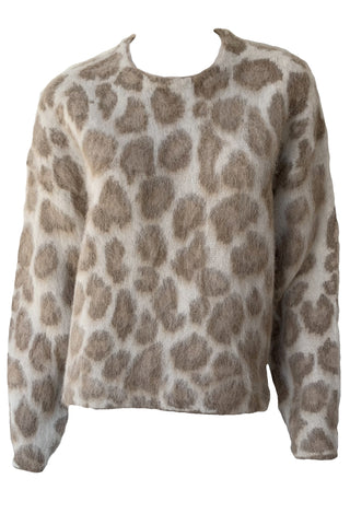Cheetah Crew Neck Sweater - Augusta Twenty