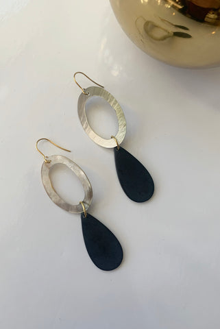 Mother of Pearl Oval Drop Earrings - Augusta Twenty