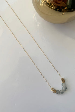 Brass & Sea Glass Necklace - Augusta Twenty