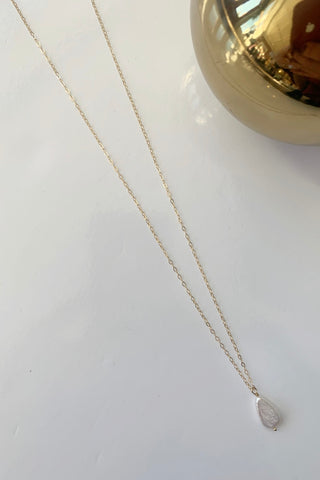 Pearl Teardrop Necklace - Augusta Twenty