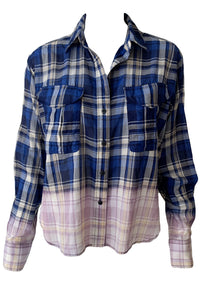 Florian Cropped Plaid Shirt