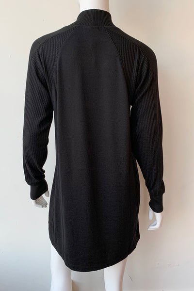 Knit Racer Turtleneck Dress