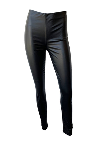 Nina Faux Leather Pull On Skinny Pants