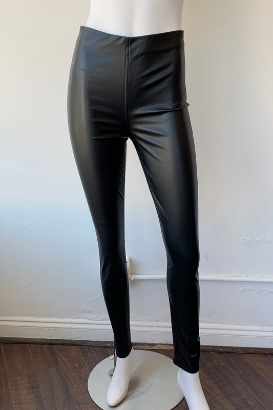 Nina Faux Leather Pull On Skinny Pants - Augusta Twenty