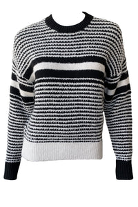 Teddy Striped Crewneck Sweater