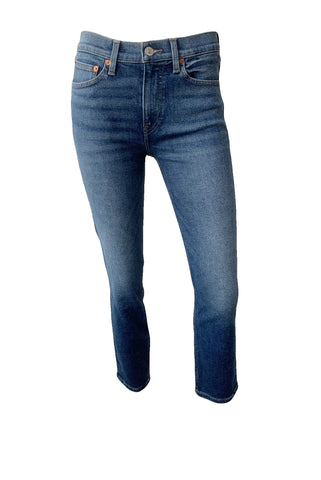 Mid Rise Ankle Crop Jeans