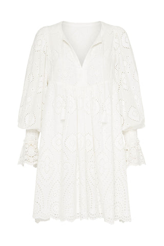 Dylan Smock Dress-White