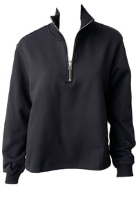 Brushed Contra Terry Zip Neck Sweatshirt - Augusta Twenty
