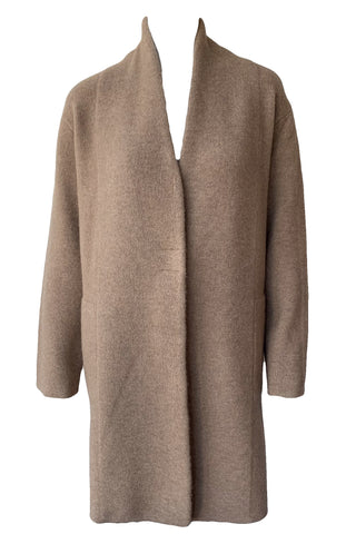 Collarless Cardigan Coat - Augusta Twenty