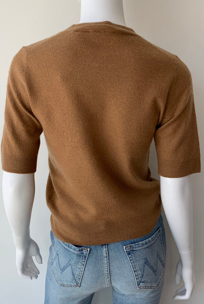 Boiled Cashmere Short Sleeve Pullover