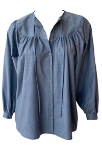 Poet Blouse-Chambray