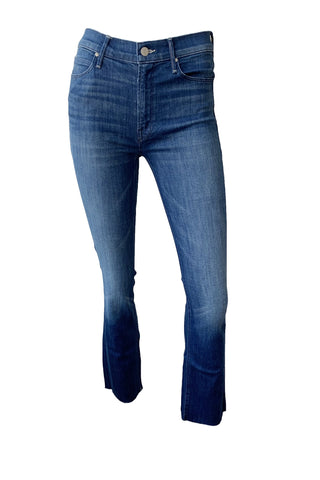 Mid Rise Dazzler Ankle Fray Jeans