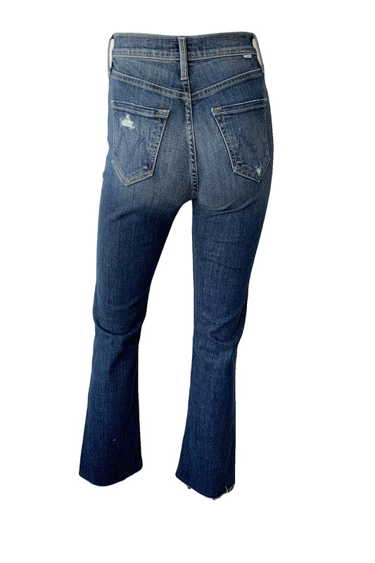High Waisted Rider Ankle Fray Jeans