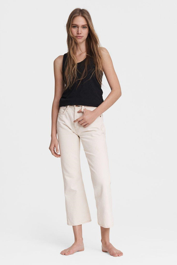 Maya High Rise Ankle Wide Leg Jeans