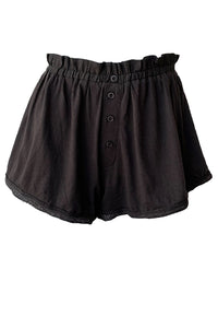Lace Tap Short - Almost Black