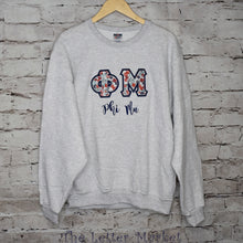 Sorority Applique Letter Sweatshirt - The Letter Market