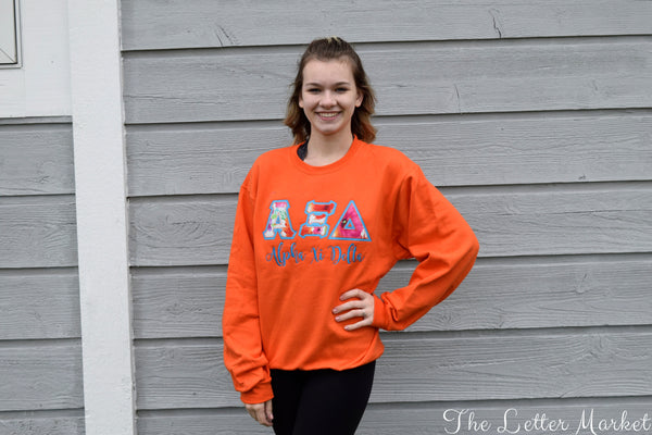 Create Your Own Custom Sorority Applique Crew