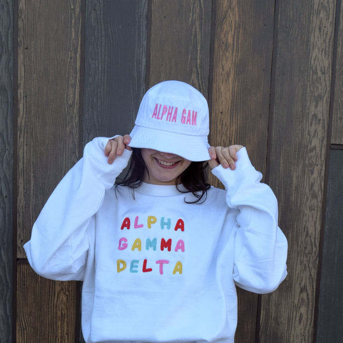 Bubble Letters Sorority Bucket Hat