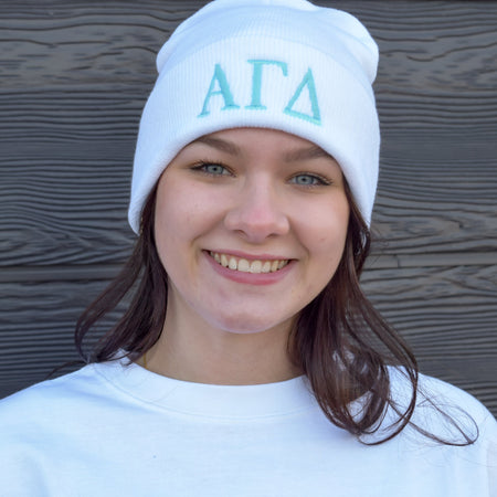 Traditional Greek Lettered Sorority Knit Hat
