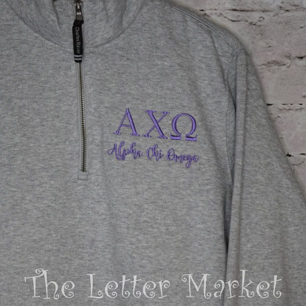 Charles River Sorority Quarter Zip - The Letter Market