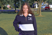 Charles River Striped 1/4 Zip