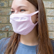 Sorority Simple Script Nickname Pleated Face Mask