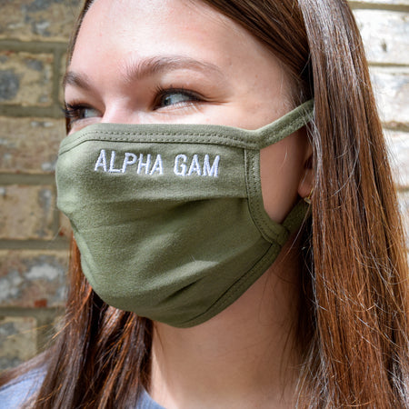 Sorority Nickname Pleated Face Mask