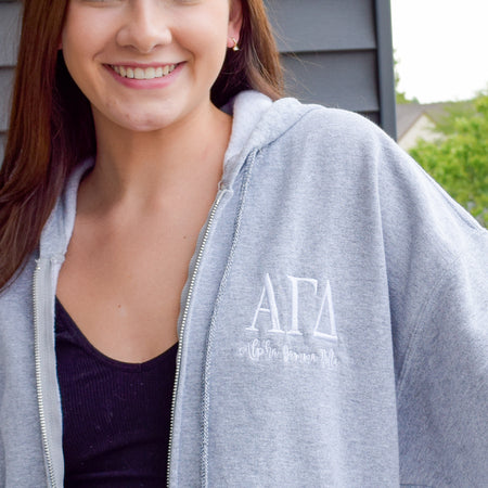 Sorority Full Zip Hooded Sweatshirt