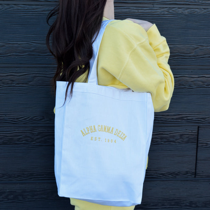 Simple Sorority Market Tote
