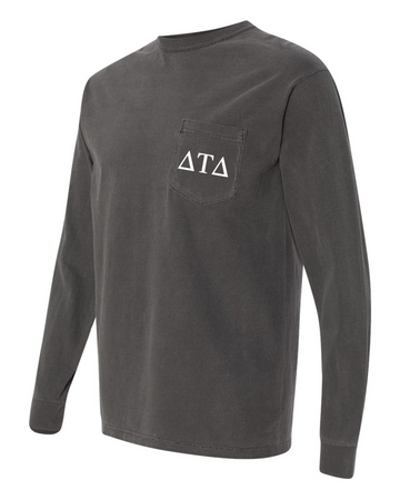 Fraternity - Comfort Colors Long Sleeve Pocket Tee