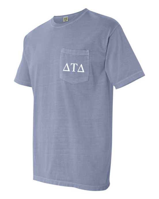 Fraternity - Comfort Colors Pocketed Tee