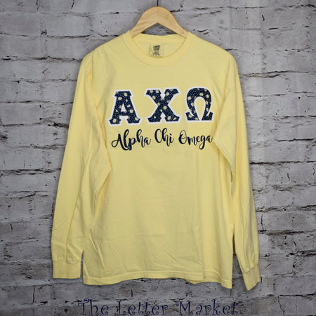 Sorority Comfort Colors Applique Long Sleeve