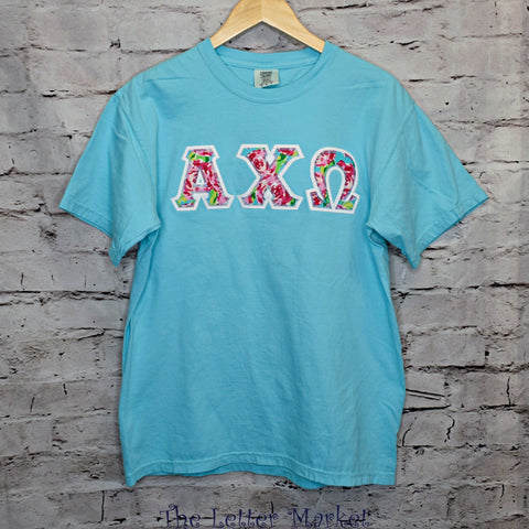 Sorority Comfort Colors Short Sleeve Applique Tee