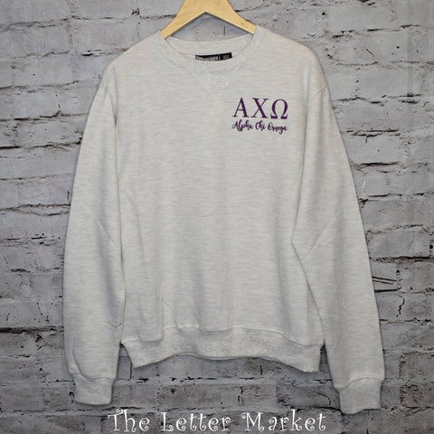 Sorority Boyfriend Ribbed Crew