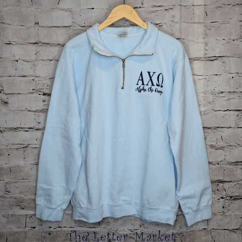 Sorority Comfort Colors 1/4 Zip