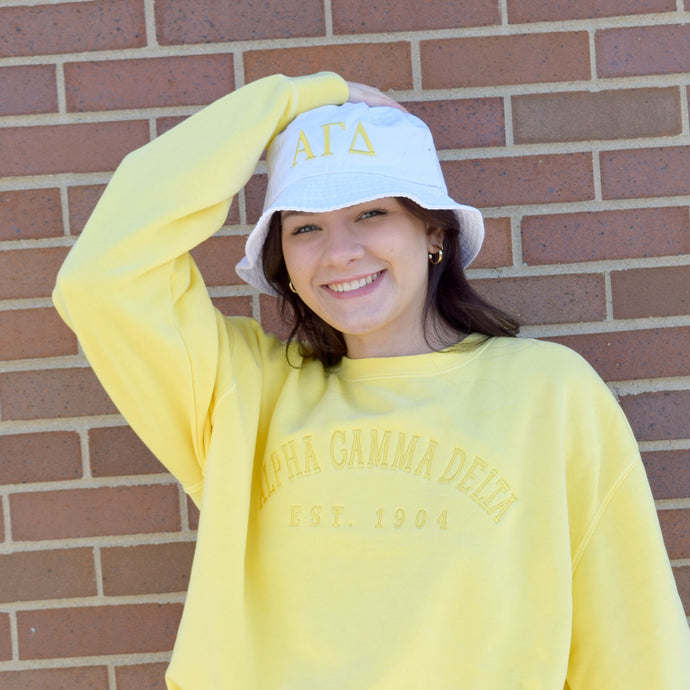 Traditional Greek Letters Sorority Bucket Hat