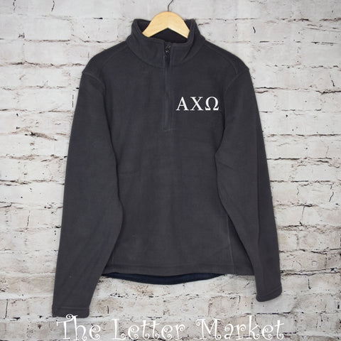 Sorority - Fleece 1/4- Zip Pullover - The Letter Market