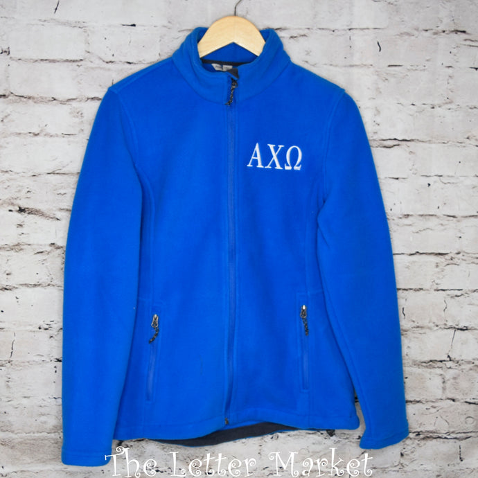 Sorority - Ladies Full Zip Fleece Jacket - The Letter Market