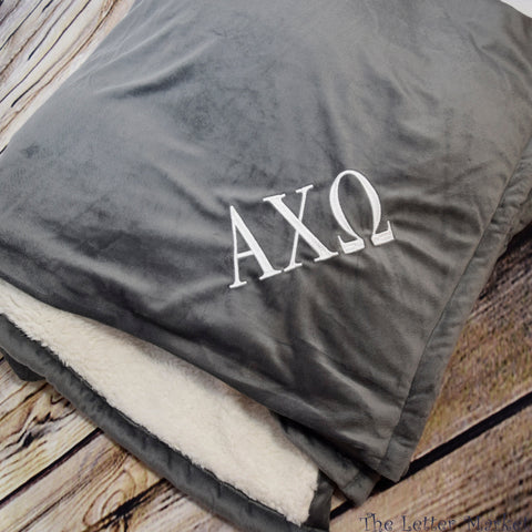 Sorority Sherpa Blanket - The Letter Market
