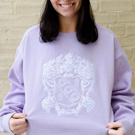 Comfort Colors Embroidered Crest Crew