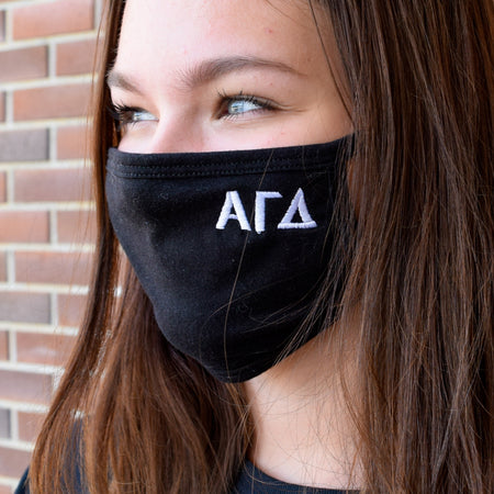 Greek Lettered Sorority Face Mask