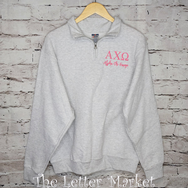 Sorority 1/4 Zip - The Letter Market
